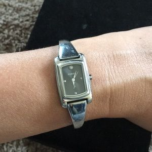 Fossil watch with diamond chip detail